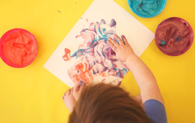 Easy Pudding Finger Paint